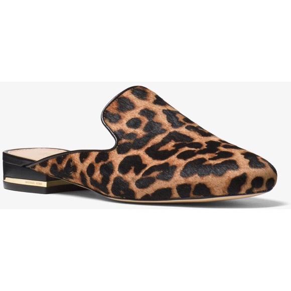 Michael Kors Leopard Mules | Poshmark